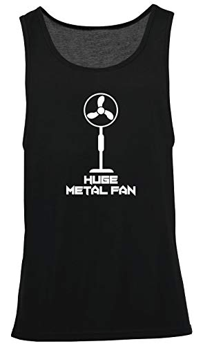 Hippowarehouse I'm a Huge Metal Fan Vest Scoop Sleeve Unisex Tank top Bl