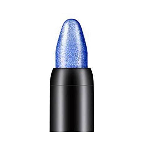 Fards à paupières,10 couleurs Crayon à paupières de beauté de surligneur-Lonshell (Bleu foncé)