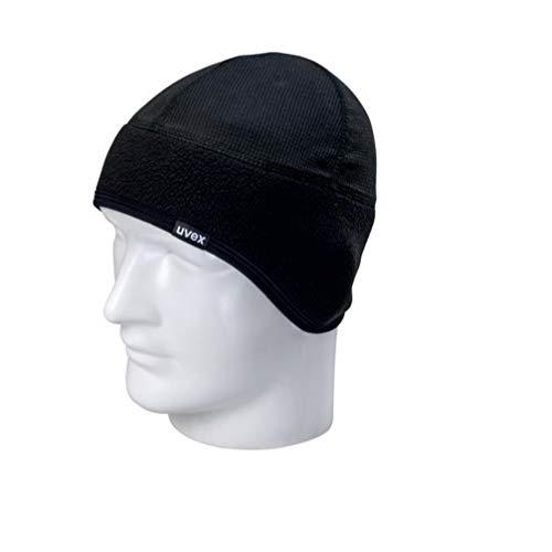 Uvex Wintermütze, verwendbaar als Mütze unter dem Helm, Farbe: schwarz, ergon. geformt, Grösse: S-M