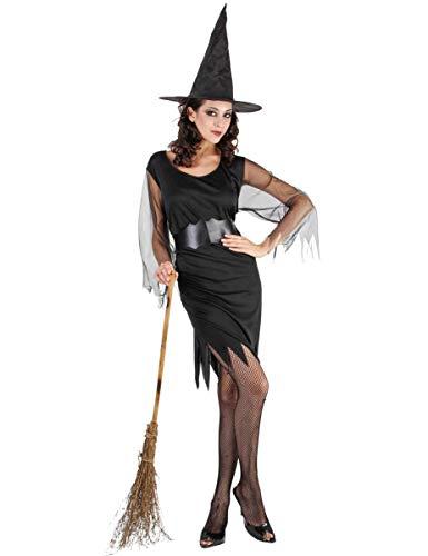 Déguisement sorcière Manches en Tulle Femme Halloween Taille Unique (40)