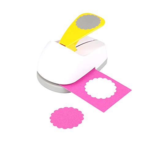 Craft Lever Punch 2 inch Circle Ware Punch DIY Handmade Paper Punch(White Circle Ware)