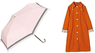 【セット買い】ワールドパーティー(Wpc.) 日傘 折りたたみ傘 ピンク 50cm レディース 傘袋付き 遮光セーラーミニ 801-9966 PK+レインコート ポンチョ レインウェア オレンジ FREE レディース 収納袋付き R-1106 OR
