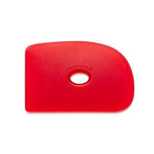 Mudtools Polymer Rib Red Size 2 Very Soft - Ceramics, Pottery, Clay - R2