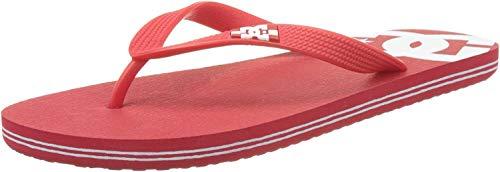 DC Shoes Spray M Sndl, Chanclas Hombre, Rojo (Red/White), 39 EU