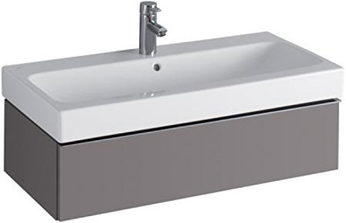 Keramag iCon Waschtischunterschrank 840292 890x240x477 mm, Platin Hochglanz