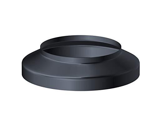 Standrohrkappe 80/115 Aluminium Anthrazit zur Abdeckung KG-Rohr Einlauf