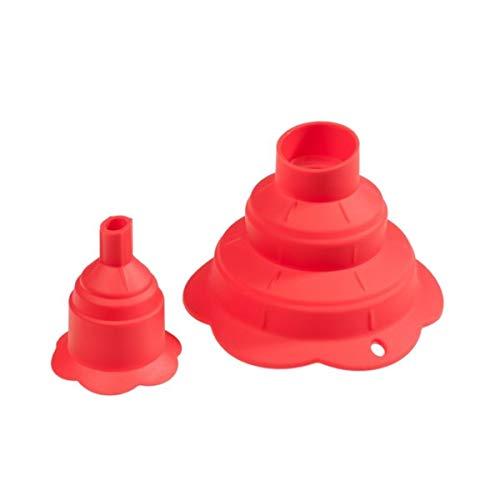 Kochblume Trichter faltbar 2-teilig rot