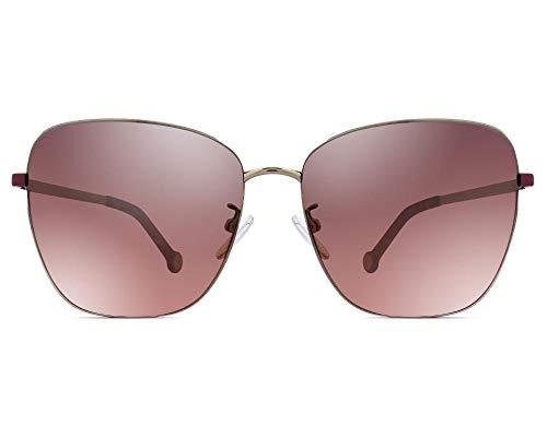 Carolina Herrera Gafas de Sol Mujer SHE10359579X (Diametro 59 mm), Gray, M Unisex-Adult