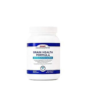 GNC Preventive Nutrition Brain Health Formula, 60 Caplets, Supports Memory Function and Enhances Circulation