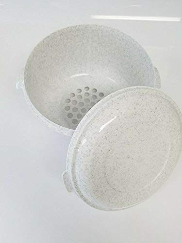 Why Should You Buy Catcher Popcorn Bowl Lid and Sieve - White Granite Plastic