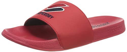 Superdry F3-Flip Flop, Mocasn Mujer, Color Rojo, 40 EU