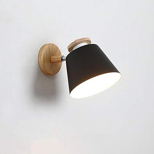 Wandlampen, wandlampen, wandlampen, LED-wandlampen, verstelbaar, voor slaapkamer, E27 van hout, leeslamp, aan de muur gemonteerd