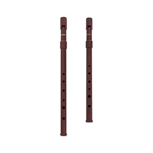 Woodi WI-921W WI-922W Set of 2 Irish Whistle Wood Grain Key of C & Key of D Tin Whistle Penny Whistle ABS
