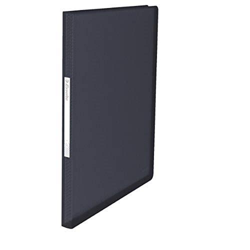 Esselte Carpeta de fundas, A4, 60 fundas, Capacidad para 120 hojas, Fundas transparentes, Tapas flexibles, Negro VIVIDA, Gama VIVIDA, 624004 ✅