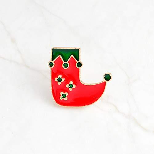 HSQSC Broschen Anstecknadeln Emaille Pin Santa Claus Bell Candy Kiefer Socke Abzeichen Brosche Anstecknadel Denim Jeans Shirt Cartoon Schmuck