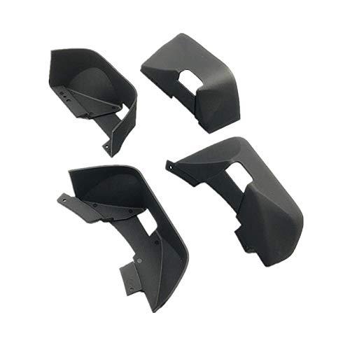 SHIZHI Racing Nylon Fender/Bud Guard Fit para RC Crawler Coche Axial SCX10 II Wrangler Cuerpo Duro 313mm (Color : Black)