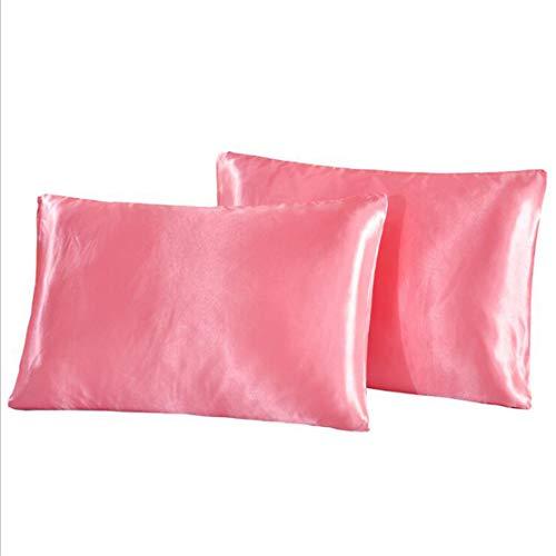 YSINFOD Sommer Kissenbezug Beidseitig Seidenkissenbezug Kissenbezug für Haare und Gesichtsschönheiten, Jadepuder