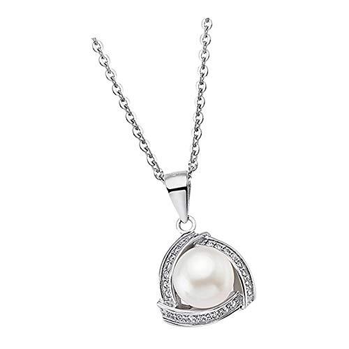 Lotus Silver Collar de perla LP1928-1/1 con perla de circonio, plata 925 JLP1928-1-1