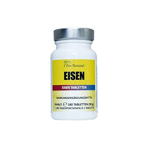 Eisen Tabletten - 180 Stück im 6 Monatsvorrat. Vegan und hergestellt in Deutschland