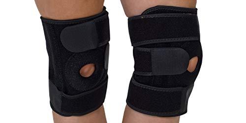 Knieorthese | Knieverband | Knieschmerzen und Verletzungen | zwei Stücke | Sport | Arbeit | unisex | Universalgröße | schwarz | rechtes und linkes Knie