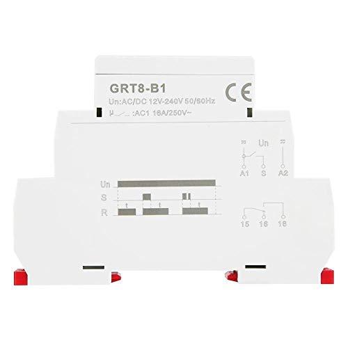 Chenbz Tiempo del relé de retardo, GRT8-B1 AC / 240V Interruptor de retardo a la desconexión del relé Temporizador Controlador DC 12V, Mini Apagado Tiempo de retardo del relé, for Carril DIN de 35 m