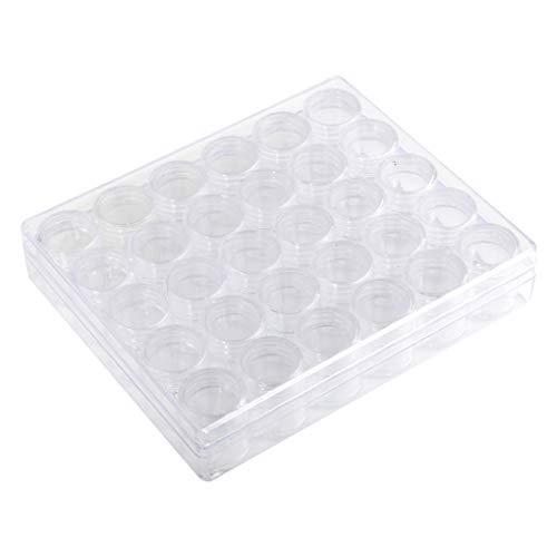 Censhaorme Nail Strass scatola di immagazzinaggio Gioielli Paillettes Perline di scintillio di alimentazione trasparente Organizzatore Contenere Vasi