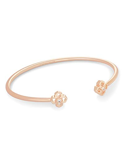 Kendra Scott Rue Cuff Bracelet for Women, Fashion Jewelry, 14k Rose Gold-Plated