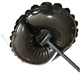Fireplace chimney draftstopper plug (round) - fits most metal, zero-clearance fireplaces.