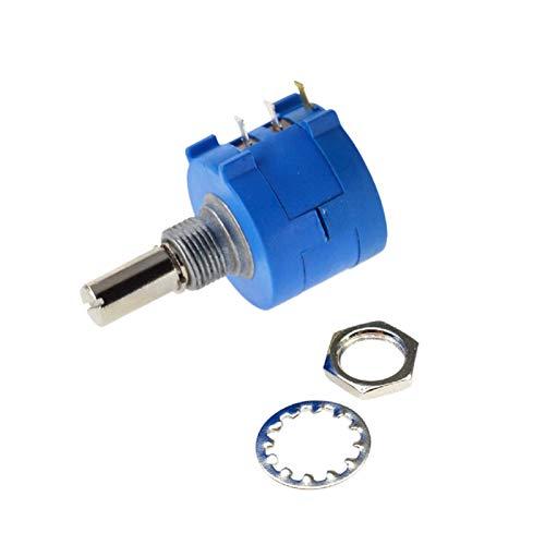 XIALITR Potentiometer 3590S-2-101L 102L 103L 104L 202L 203L 100R 200R 1K 2K 10K 50K Ohm Precision Multi-turn Adjustable Potentiometer Resistance (Resistance : 100 Ohm)
