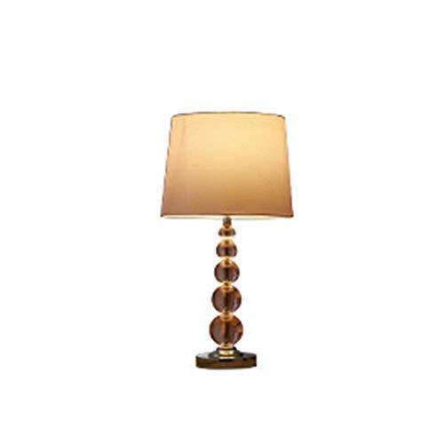 Lámpara Escritorio Nórdico simple lámpara de mesa de cristal de lujo dormitorio lámpara de noche estudio de personalidad modelo habitación villa sala de estar ropa de cama pantalla decorativa 25 * 58