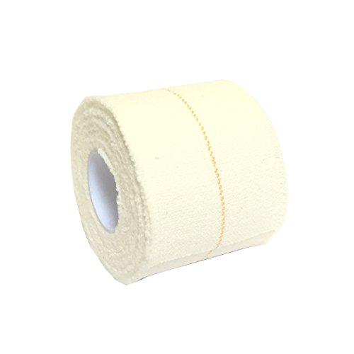 6rollos de 5cm x 4,5m QUALICARE Pro EAB vendaje adhesivo elástico deportes atléticos levantamiento de Rugby fútbol rodilla tobillo codo muñeca apoyo conjunto cinta straping blanco