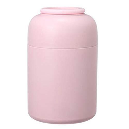 Eten Thermos, RVS geïsoleerde voedsel fles, met grote capaciteit draagbare Hand for Volwassen werkende kinderen 850ml (Color : Pink)