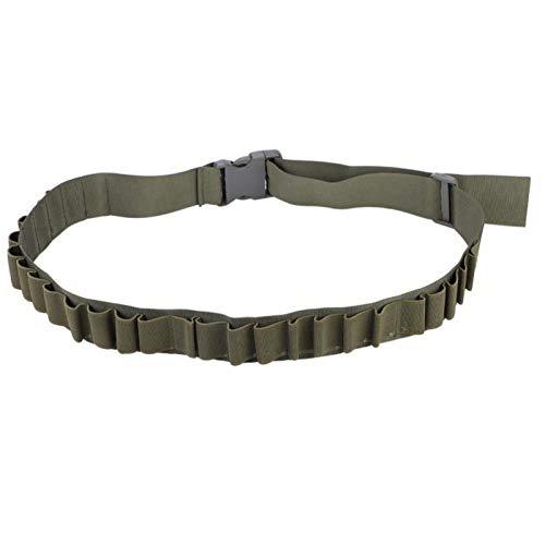 DAUERHAFT Cartucho de Soporte de munición Duradero Estuche de Cartucho Cartucho Cinturones de Cartucho de cinturón, para Uso en Exteriores, Caza, Entrenamiento(Green)