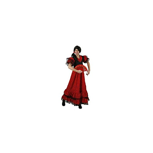 Atosa-95456 Disfraz Flamenca, Color Rojo, M-L (95456)