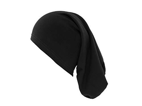 Gorro de Verano - Extralargo y Fino - Ideal para rastas - 40 cm - Negro