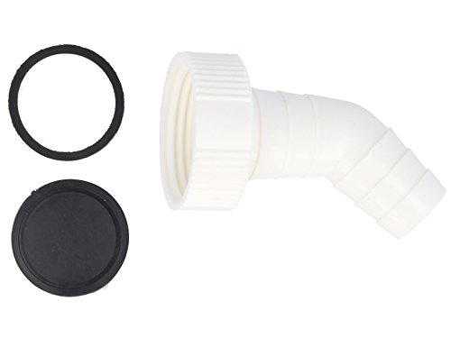 tecuro 45° Geräteanschlusstülle 1 Zoll für Küchen-Spülensiphon