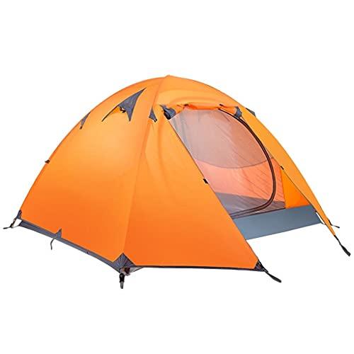 ZHANGCHUNLI Tienda de Campaña Tiendas Portable Doble Gente Tienda Impermeable Protección UV Ligero Carpa Pareja para Acampar Excursionismo Playa, 3 Colores (Color : Orange)