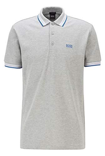 BOSS Paddy Camiseta Polo, Gris Claro (63), XL para Hombre