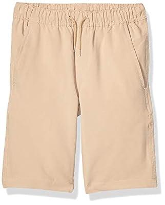 Nautica Boys School Uniform Jogger Short, Lowell Khaki, 14 Husky