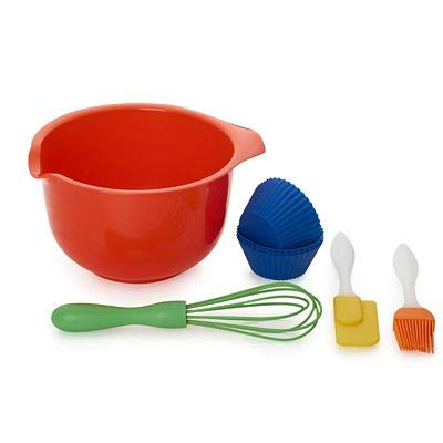Children's 10pc Baking Set with Kids Bowl, Whisk and Spatula