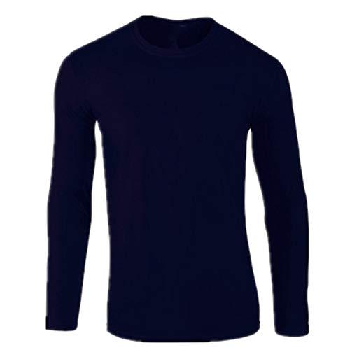 Camiseta de manga larga para hombre, de algodón puro, color cultura, camiseta de cuello largo