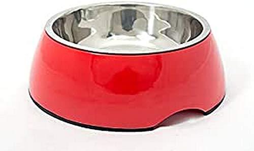 PETUKY 2en 1Comedero de melamina, Color Rojo