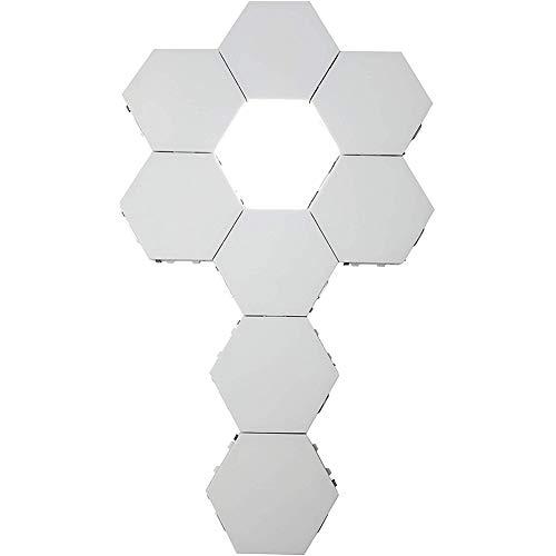 HHORD Luces De Pared Hexagonales Inteligentes Sensibles Al Tacto Modular LED Luces De Noche De Nido De Abeja Ensamblaje De Geometría Creativa DIY Decoración De Lámparas (5 Piezas)