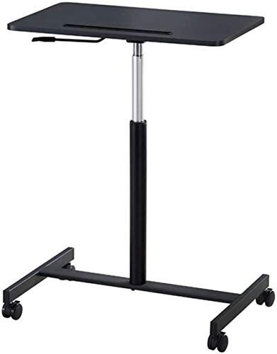 WNN-URG Standing Mobile Laptop Cart, Sit Stand Rolling Desk with Height Adjustable 26' X 16' Platform, Perfect for Offices, Art and Music Studios, Libraries, and in Dentists Offices WNN-URG