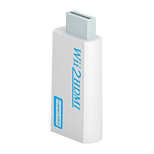 Consola de Juegos Wii a Hdmi Wii a Hdmi HD Converter Compatible con Pantalla HD (Blanco)