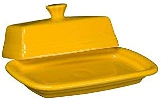 Homer Laughlin 1431-342 Extra Large Covered Butter Dish, Daffodil