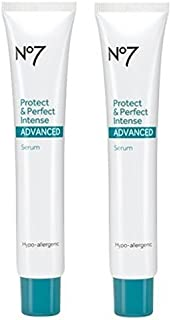 Boots No7 Protect & Perfect Intense Advanced Anti Aging Serum Tube - 1 oz (Double Pack)