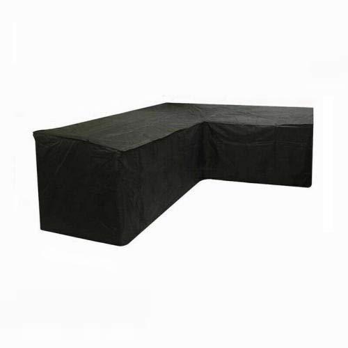 SlimpleStudio Muebles Plazas Funda para Sofa de Esquina,Cubierta de Muebles de jardín al Aire Libre Cruzada 420D, Cubierta de sofá de Esquina en Forma de V Izquierda 215x215x87cm