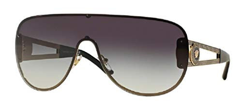 Versace VE2166 12528G 41M Pale Gold/Grey Gradient Aviator Sunglasses For Men For Women+FREE Complimentary Eyewear Care Kit