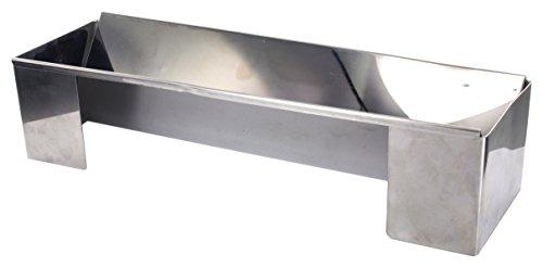 Lily cook KP5345 Moule à bûche Triangulaire, INOX, Argent, 30,2 x 9,8 x 7,4 cm